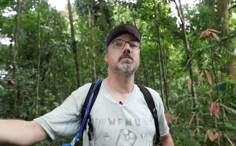 Ben Hirsch in the rainforest.